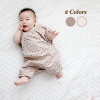 (반팔) 내추럴 도트 유아 전신 미술가운-2color