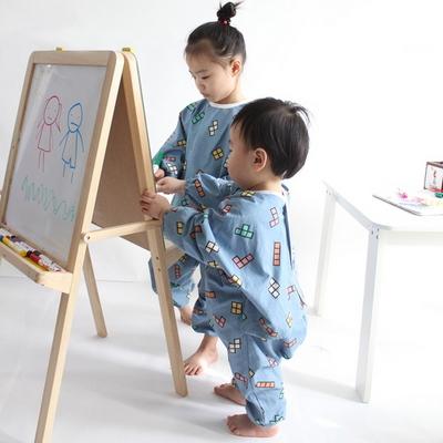 테트리스 유아 전신 미술가운