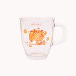 쿠키런 유리머그컵(오렌지맛 쿠키)
