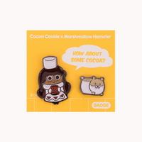 쿠키런 쿠키와 펫 뱃지세트 (코코아맛 쿠키)