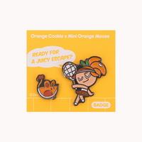 쿠키런 쿠키와 펫 뱃지세트 (오렌지맛 쿠키)