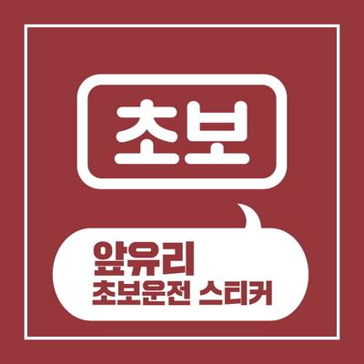 앞유리 초보운전 스티커 디자인 01
