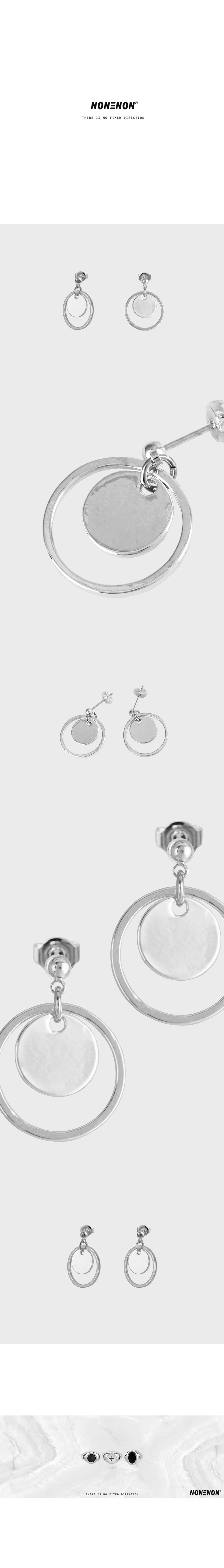 NEW MOON EAR - 논논, 16,000원, 실버, 드롭귀걸이
