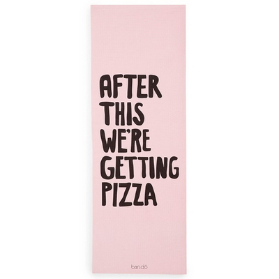 work it out exercise mat-after this were getting pizza