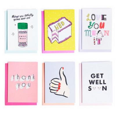 hey girl hey greeting card set