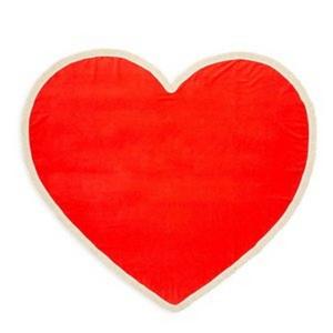 all around giant heart towel-sweetheart
