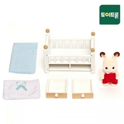 5017-초콜릿토끼 아기와 침대(2205)