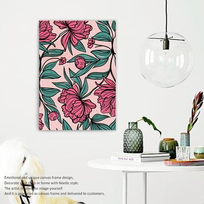 북유럽 보테니컬 플라워 캔버스액자 flower pattern