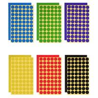 스티커2 (원)(1장-원스티커 60개)/(70P)/색상6종