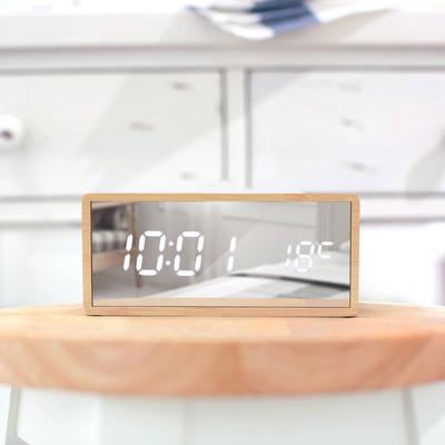 LED 우드 미러 시계
