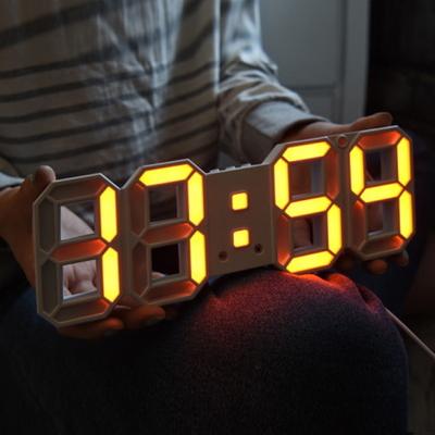 미니 3D LED 벽시계