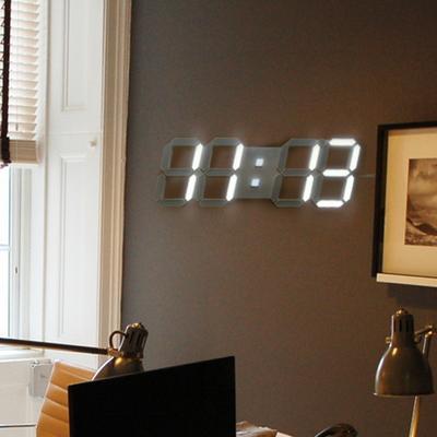 대형 3D LED 벽시계 (리모컨+어댑터포함증정)