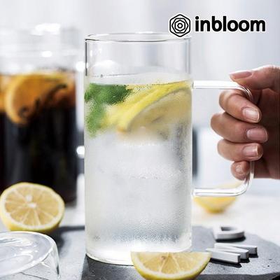 대용량 모던 아이스 강화유리 머그컵 (뚜껑포함)