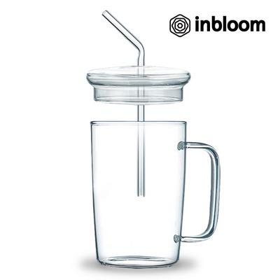 인블룸 1+1세트 커피프렌즈 강화유리 빨대텀블러520ml