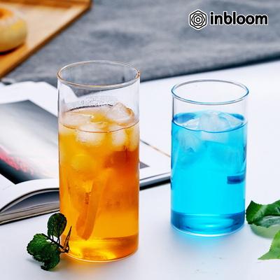인블룸 1+1세트 북유럽스타일 투명 유리 원형컵 345ml