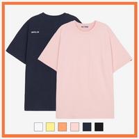 (UNISEX)백사이드 절개자수 포인트 오버핏 스탠다드 티셔츠 모음 (6color)