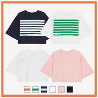 (WOMEN)오버핏 크롭 티셔츠 모음 (6color)