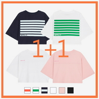 (1+1 WOMEN)오버핏 크롭 티셔츠 (6color)