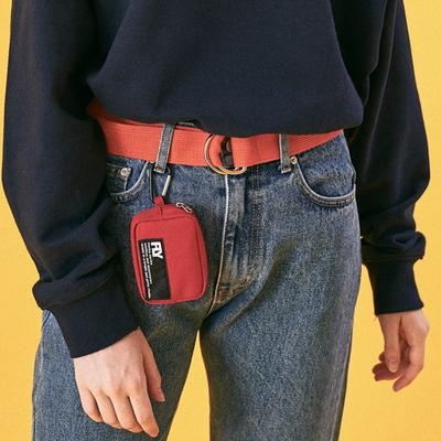 퍼키 4인치 토바코 포켓 파우치 (Red)