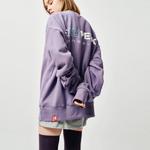 (UNISEX)(기모) 웨어에버 헤비코튼 오버핏 스웻셔츠 (Purple)