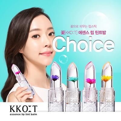 꽃 KKOT 에센스 투명 꽃 립스틱 립틴트밤 (택1)