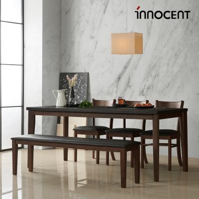 이노센트 그라니6인용 화산석식탁세트(벤치+일반의자)
