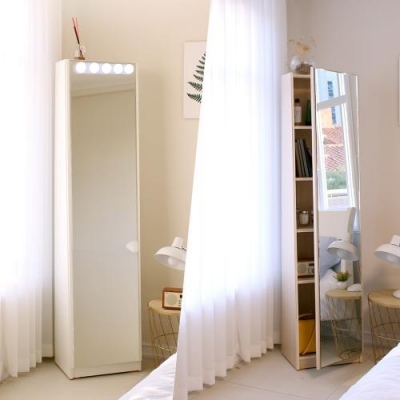 마리메종 데일리 수납 전신거울 LED조명 포함