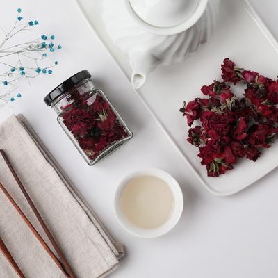 천연 장미 꽃차