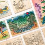 민화 나무 액자 만들기/민화 문패/전통 색칠공부