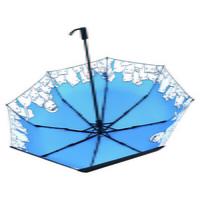 민화샵 반전 벚꽃우산 3단 양산