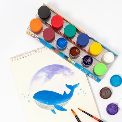 워셔블 그림물감 포스터물감 6색세트