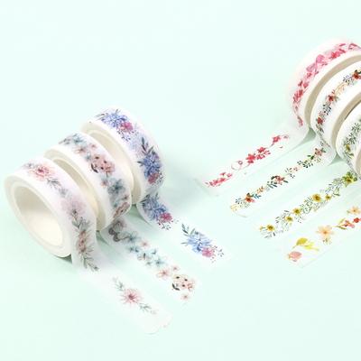 봄꽃 마스킹 디자인테이프 15mm