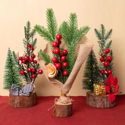 크리스마스 작은 소형 미니 트리 나무 장식 12종