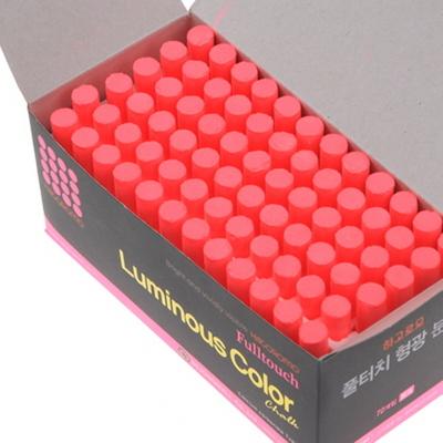 하고로모 분필 - 탄산형광 분필 핑크 1통 72(본)
