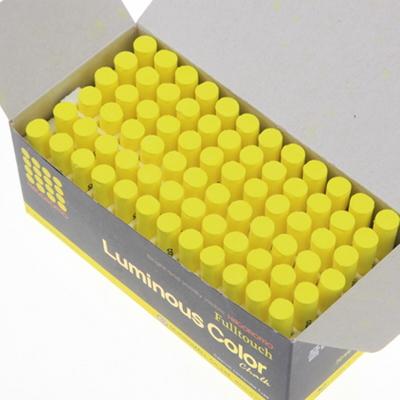 하고로모 분필 - 탄산형광 분필 노랑 1통 72(본)