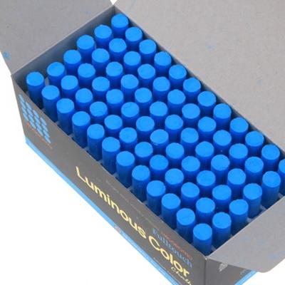 하고로모 분필 - 탄산형광 분필 파랑 1통 72(본)