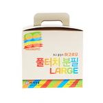 하고로모 분필 - 탄산분필 라지 5색 혼합 1통 15(본)