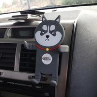 캐릭터 송풍구 차량용 핸드폰 거치대