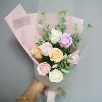 비누 장미 미니꽃다발