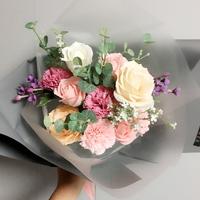 비누 카네이션 장미 꽃다발