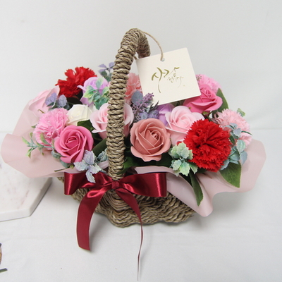 카네이션비누꽃바구니(대)