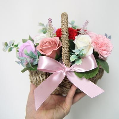 카네이션비누꽃바구니(소)