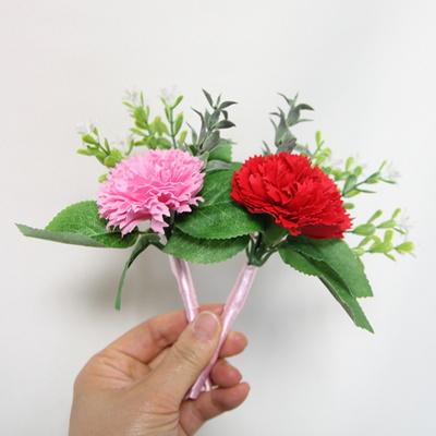 핑크 카네이션 비누꽃 코사지