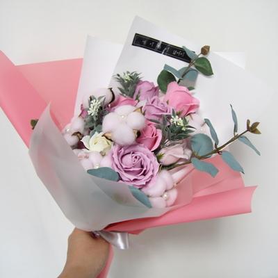 핑크 목화 비누꽃다발