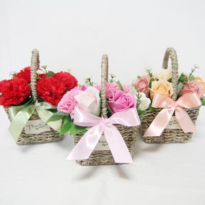 귀여운 카네이션 미니 비누꽃바구니