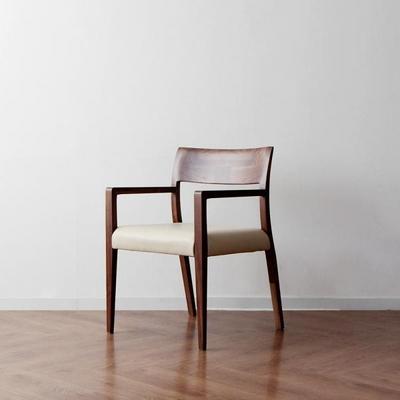 [헤리티지월넛] C형 의자 아이보리