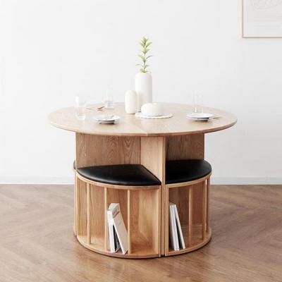 [오크] V원형 식탁/테이블1200 세트