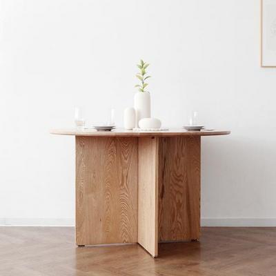 [오크] V원형 식탁/테이블1200