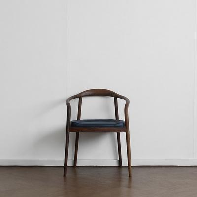 [헤리티지월넛] S형 의자 네이비
