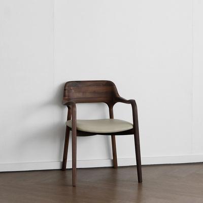 [헤리티지월넛] X형 의자 아이보리